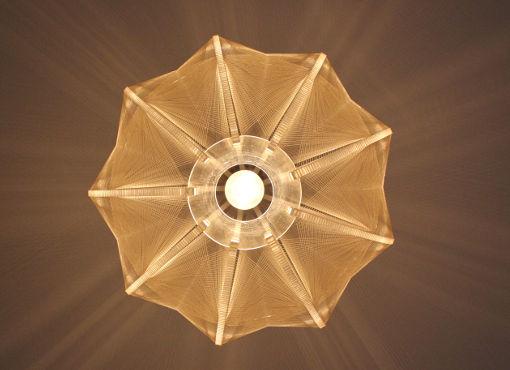 Deckenlampe aus Plexiglas