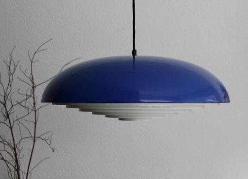 Blaue Deckenlampe aus den 1960er Jahren