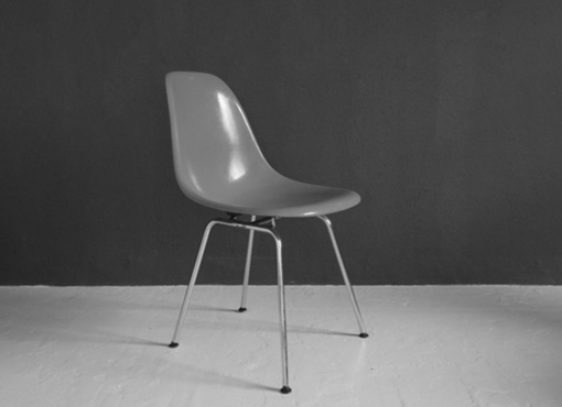 Roter Eames Sidechair