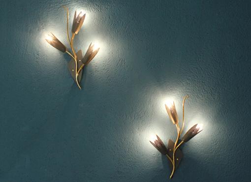 Wandlampen aus den fünfziger Jahren