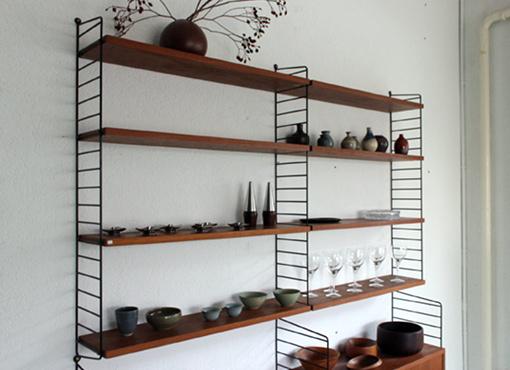string regal teak free regal system aus teak von kajsa nils strinning fr string er with string. Black Bedroom Furniture Sets. Home Design Ideas