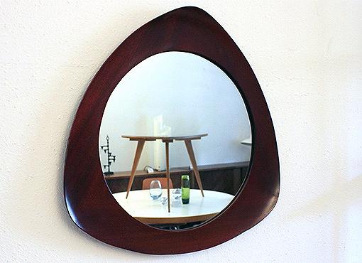 Spiegel mit Mahagoni-Rahmen