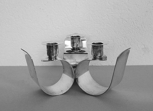 Versilberter Kerzenständer von Quist