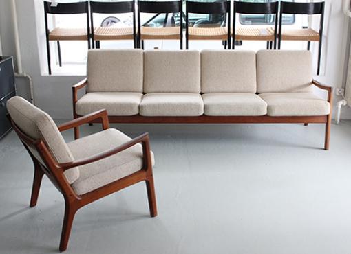 Sofa und zwei Sessel von Ole Wanscher