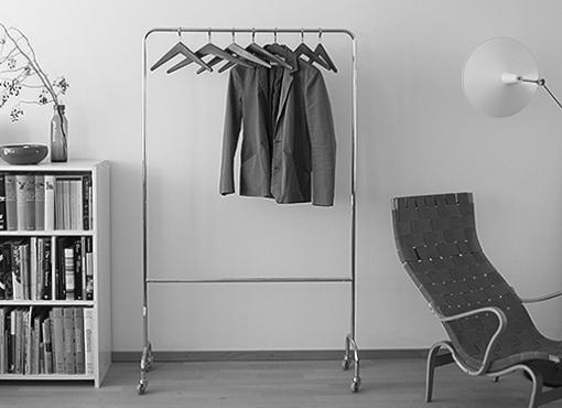 6 Palisander-Kleiderbügel
