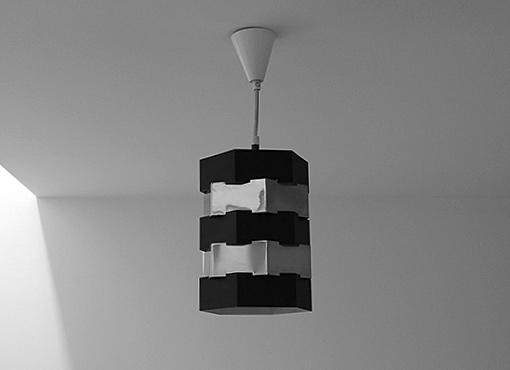 Kleine Kupfer-Lampe aus den 1960er Jahren