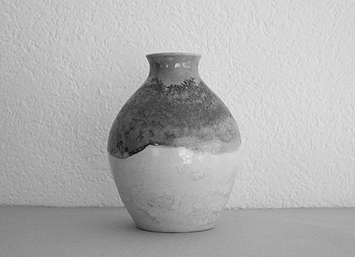 Vase mit Kristallglasur von Hans Huber