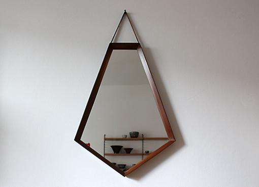 Spiegel in Diamantform