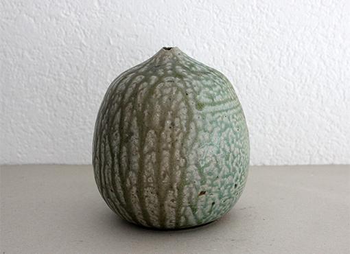 Vase mit Laufglasur