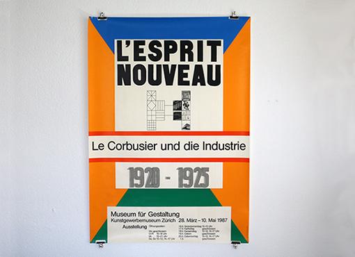 """Plakat """"L'esprit Nouveau"""" von Max Bill"""